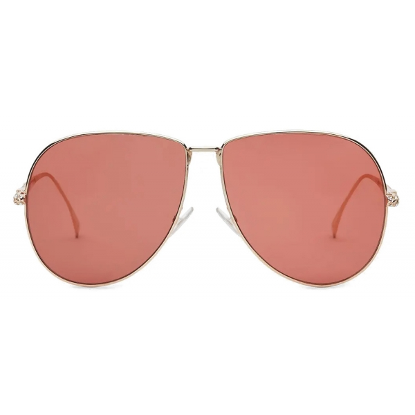 Fendi - Baguette - Occhiali da Sole Pilot Oversize - Rosa - Occhiali da Sole - Fendi Eyewear