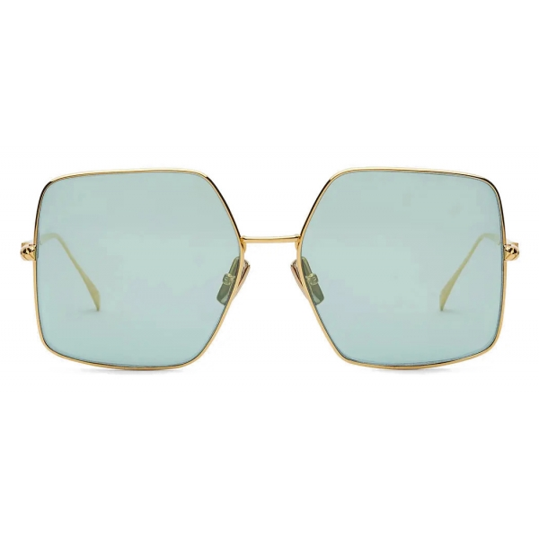 Fendi - Baguette - Square Oversize Sunglasses - Gold Gray - Sunglasses - Fendi Eyewear