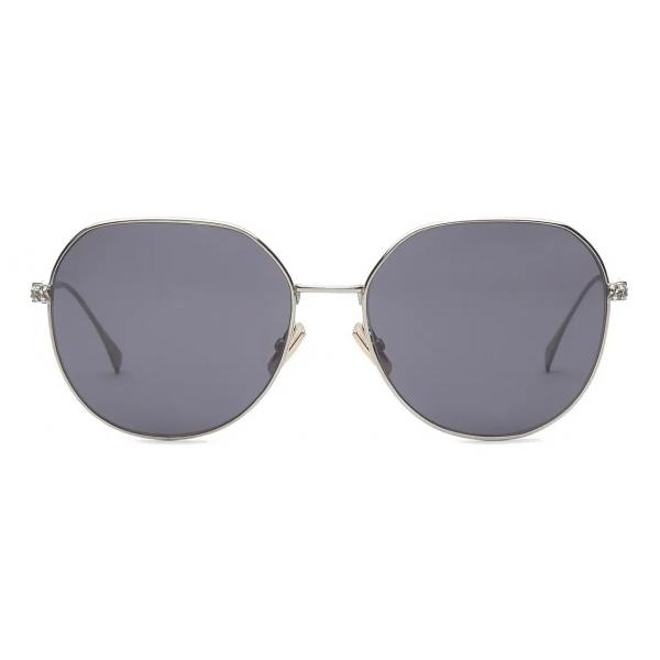 Fendi - Baguette - Occhiali da Sole Rotondi - Grigio - Occhiali da Sole - Fendi Eyewear