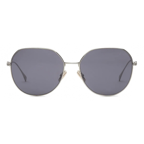 Fendi - Baguette - Round Sunglasses - Gold Gray - Sunglasses - Fendi Eyewear