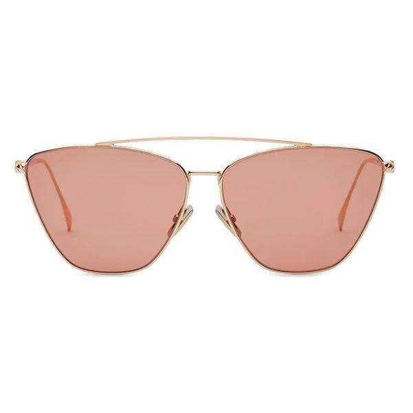 Fendi - Baguette - Occhiali da Sole Cat-Eye - Oro Rosa - Occhiali da Sole - Fendi Eyewear