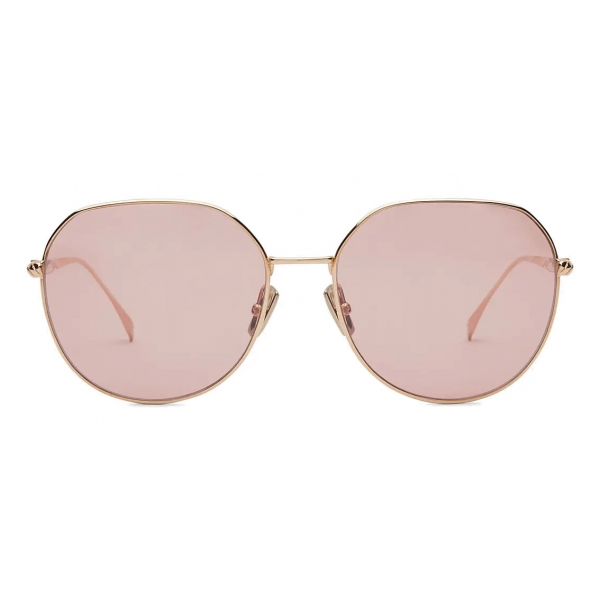 Fendi - Baguette - Cat-Eye Sunglasses - Rose Gold - Sunglasses - Fendi Eyewear