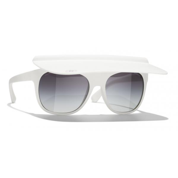 Chanel - Occhiali Rotondi da Sole - Nero Corallo Grigio - Chanel Eyewear