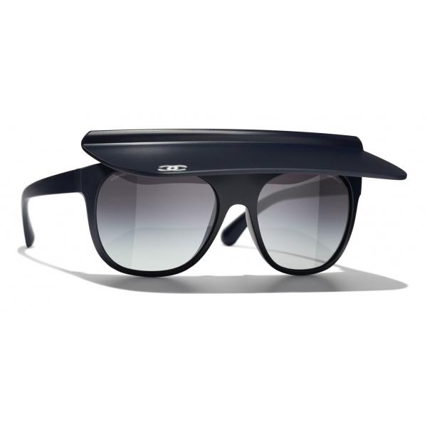 Chanel - Occhiali da Sole a Visiera - Bianco Grigio - Chanel Eyewear