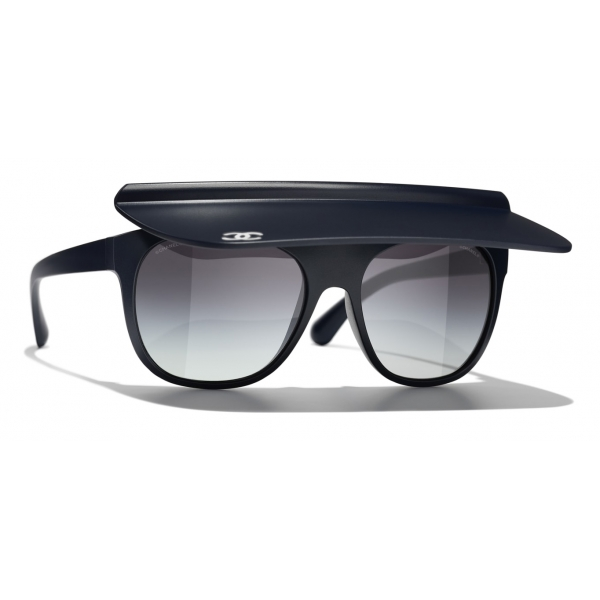 Chanel - Visor Sunglasses - White Gray - Chanel Eyewear