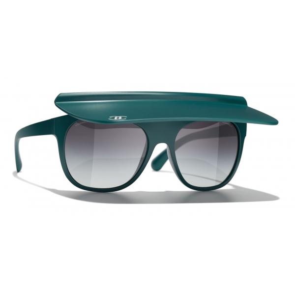 Chanel - Occhiali da Sole a Visiera - Blu Scuro Grigio - Chanel Eyewear