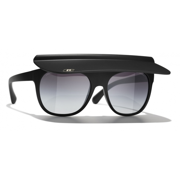 Chanel - Visor Sunglasses - Dark Green Gray - Chanel Eyewear