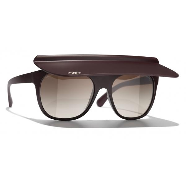 Chanel - Occhiali da Sole a Visiera - Nero Grigio - Chanel Eyewear