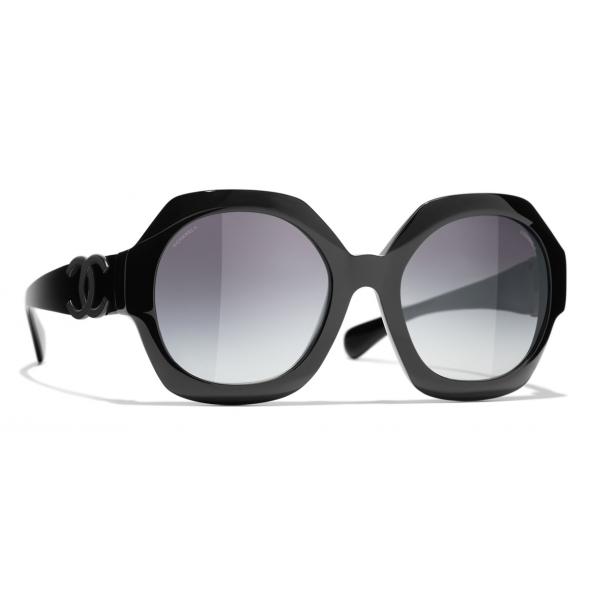 Chanel - Occhiali da Sole a Visiera - Marrone - Chanel Eyewear - Occhiali da Sole a Visiera - Nero Grigio - Chanel Eyewear