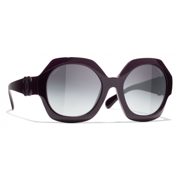 Chanel - Round Sunglasses - Black Gray - Chanel Eyewear