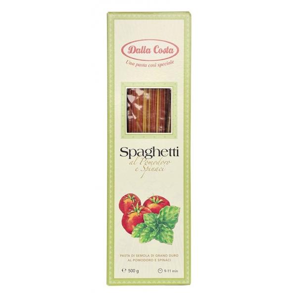 Dalla Costa - Spaghetti Tricolore - Pomodoro e Spinaci - Pasta Artigianale Italiana