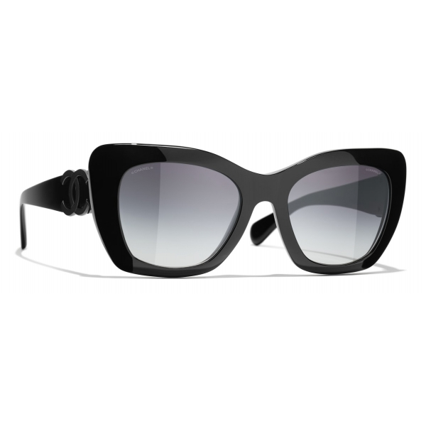 Chanel - Round Sunglasses - White Gray - Chanel Eyewear