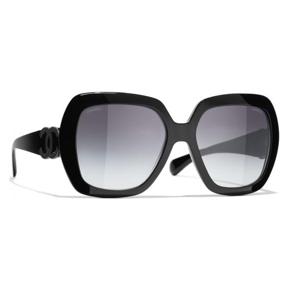 Chanel - Occhiali da Sole Cat-Eye - Bianco Grigio - Chanel Eyewear