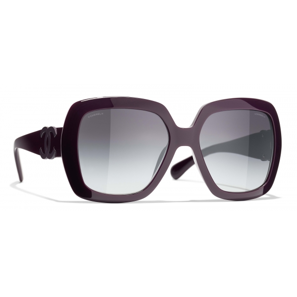 Chanel - Square Sunglasses - Black Gray - Chanel Eyewear