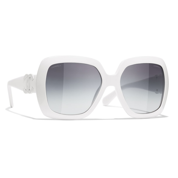 Chanel - Square Sunglasses - Purple Gray - Chanel Eyewear