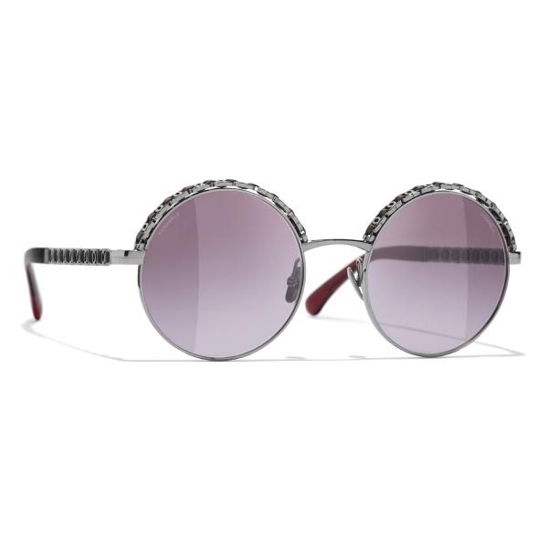 Chanel - Occhiali da Sole Rotondi - Marrone - Chanel Eyewear