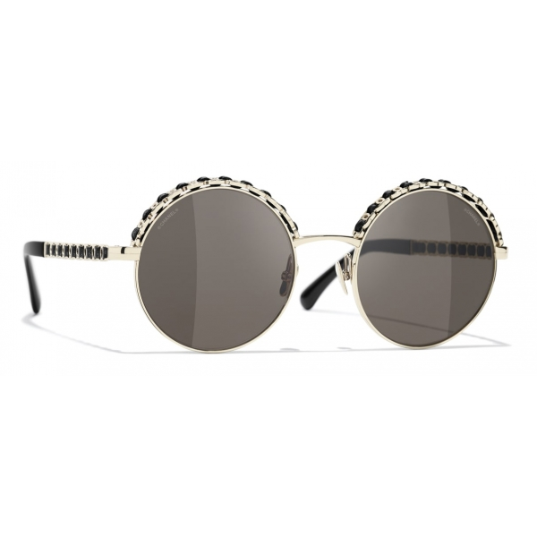 Chanel - Round Sunglasses - Dark Silver Red - Chanel Eyewear