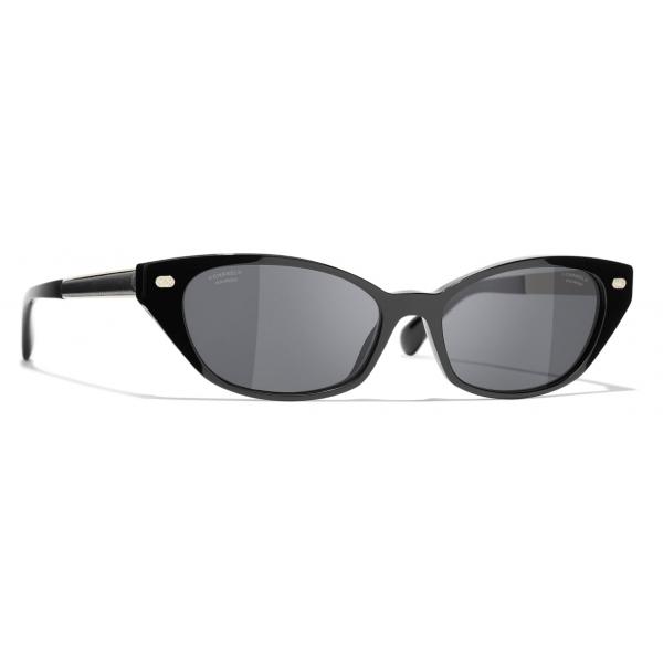 Chanel - Occhiali da Sole Cat-Eye - Tartaruga Scuro Marrone - Chanel Eyewear