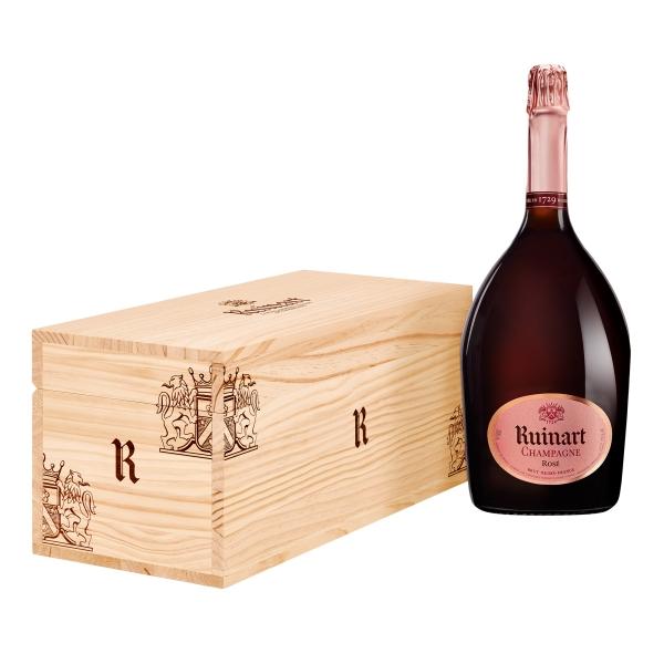 Ruinart Champagne 1729 - Rosé - Jéroboam - Cassa Legno - Chardonnay - Luxury Limited Edition - 3 l
