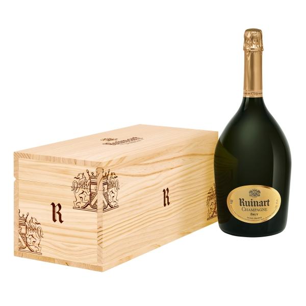 """Ruinart Champagne 1729 - """"R"""" de Ruinart - Jéroboam - Cassa Legno - Chardonnay - Luxury Limited Edition - 3 l"""