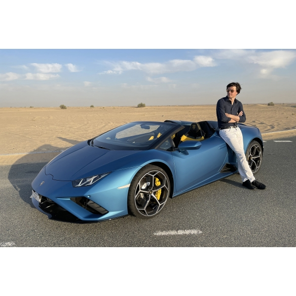 Superior Car Rental - Lamborghini Huracán EVO RWD Spyder - Blue - Exclusive Luxury Rent