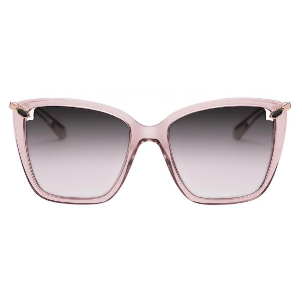 Bulgari -Heart Acetate Square Sunglasses - Transparent Pink - Serpenti Collection - Sunglasses - Bulgari Eyewear