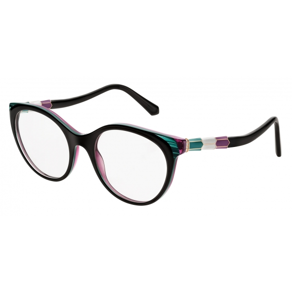 Bulgari - Serpenti - Back to Scale Acetate Panthos Optical Glasses - Multicolor - Serpenti Collection - Bulgari Eyewear