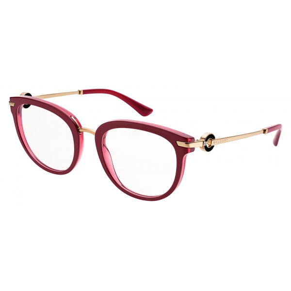Bulgari - Bulgari Bulgari - On-Me Metal Cat-Eye Optical Glasses - Cherry - Bulgari Bulgari Collection - Bulgari Eyewear