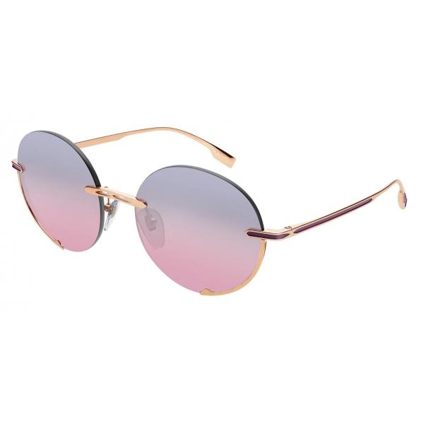 Bulgari - B.Zero1 - Logo Embrace Metal Round Sunglasses - Pink Bronze - B.Zero1 Collection - Sunglasses - Bulgari Eyewear