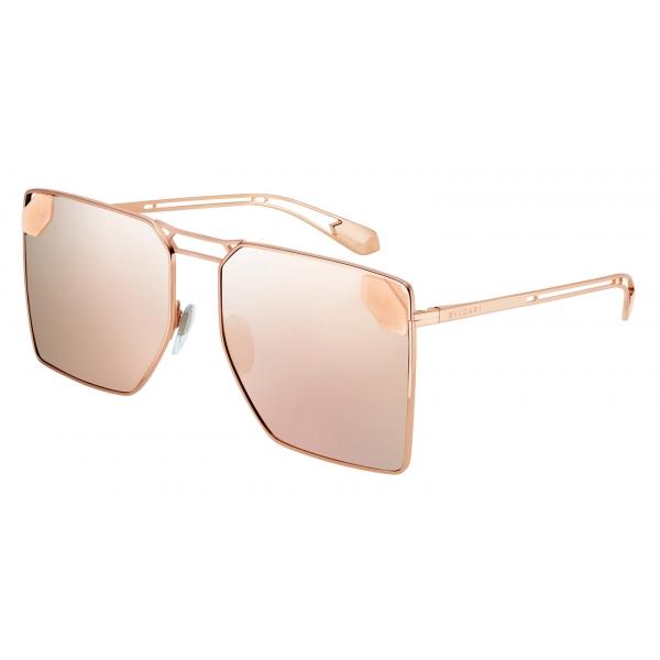 Bulgari - B.Zero1 - Logo Embrace Metal Round Sunglasses - Green Purple - B.Zero1 Collection - Sunglasses - Bulgari Eyewear
