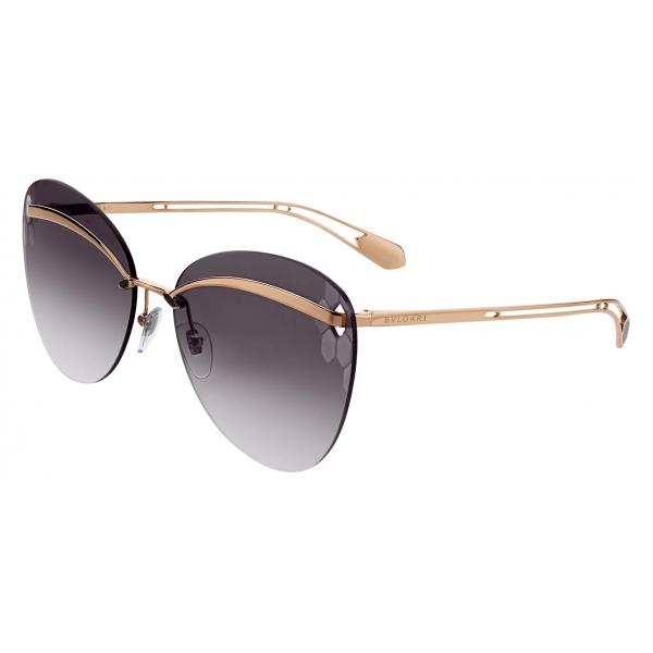Bulgari - Serpenti - Sunnyscale Oversized Square Metal Sunglasses - Pink Gold - Serpenti Collection -Bulgari Eyewear