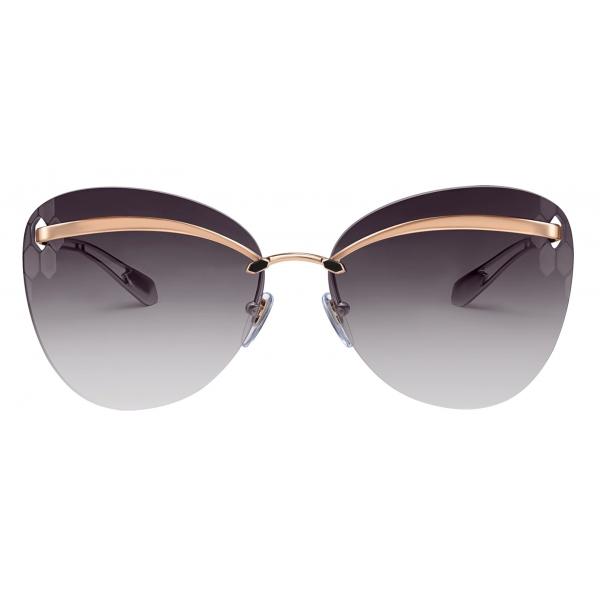 Bulgari - Serpenti - Flyingscale Butterfly Metal Sunglasses - Pink Gold Gray - Serpenti Collection - Bulgari Eyewear