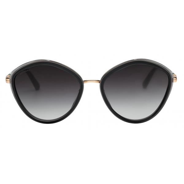 Bulgari - Serpenti - Rounded Metal Sunglasses - Black - Serpenti Collection - Sunglasses - Bulgari Eyewear