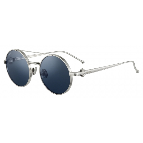 Cartier - Round - Smooth Golden -finish Metal Graduated Gray Lenses– Trinity-Cartier Eyewear