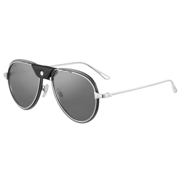 Cartier - Pilot - Smooth and Brushed Golden-Finish Metal - Santos de Cartier - Sunglasses - Cartier Eyewear