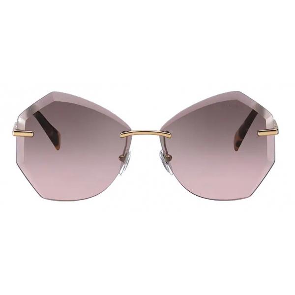 Miu Miu - Miu Miu Noir Sunglasses - Square - Tortoise and Aqua - Sunglasses - Miu Miu Eyewear