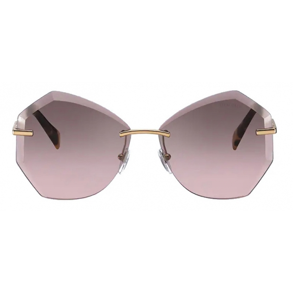 Miu Miu - Occhiali Miu Miu Scenique - Geometrici - Grigio Sfumato Alabastro - Occhiali da Sole - Miu Miu Eyewear