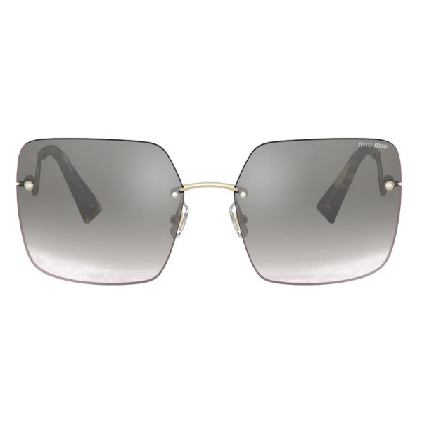 Miu Miu - Miu Miu Scenique Sunglasses - Oversized - Mirrored Gray - Sunglasses - Miu Miu Eyewear