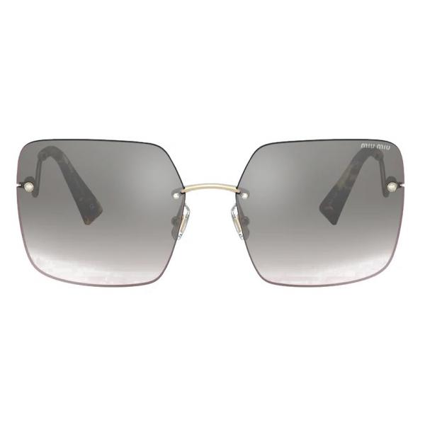 Miu Miu - Occhiali Miu Miu Scenique - Oversized - Antracite - Occhiali da Sole - Miu Miu Eyewear