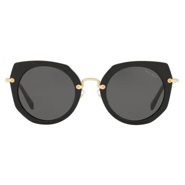 Miu Miu - Miu Miu La Mondaine Sunglasses - Round - Gradient Smoky Gray - Sunglasses - Miu Miu Eyewear