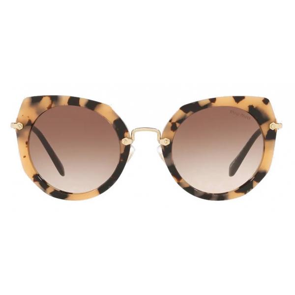 Miu Miu - Occhiali Miu Miu Artiste - Geometrici - Moro Sfumato Opacizzato - Occhiali da Sole - Miu Miu Eyewear