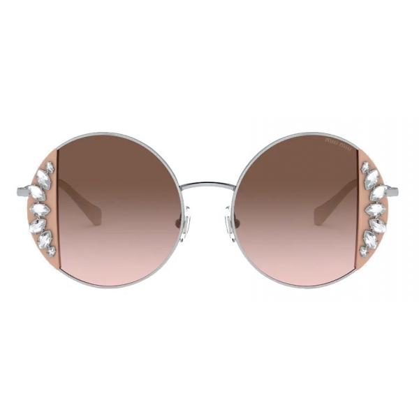 Miu Miu - Miu Miu Artiste Sunglasses - Geometric - Opaque Gradient Dark Brown - Sunglasses - Miu Miu Eyewear