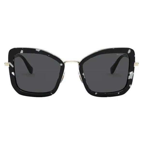 Miu Miu - Occhiali Miu Miu Délice - Cat-Eye - Tartaruga Nero Bianco - Occhiali da Sole - Miu Miu Eyewear