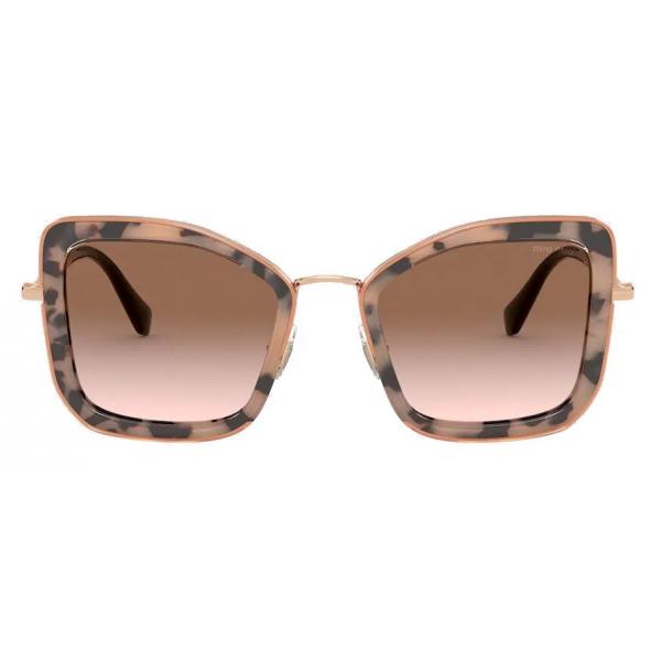 Miu Miu - Miu Miu Délice Sunglasses - Cat-Eye - Aqua Tortoiseshell - Sunglasses - Miu Miu Eyewear