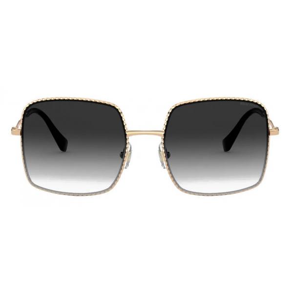 Miu Miu - Occhiali Miu Miu La Mondaine - Geometrici Oversized - Fumo Sfumato - Occhiali da Sole - Miu Miu Eyewear