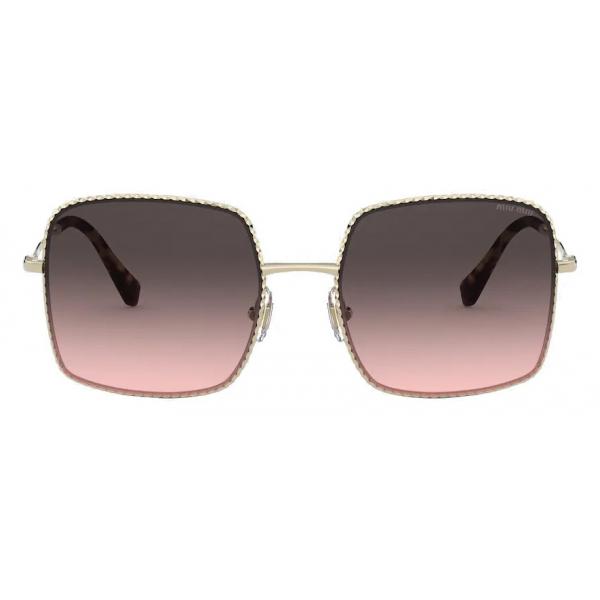 Miu Miu - La Mondaine - Geometrici Oversized - Grigio Sfumato Alabastro - Occhiali da Sole - Miu Miu Eyewear