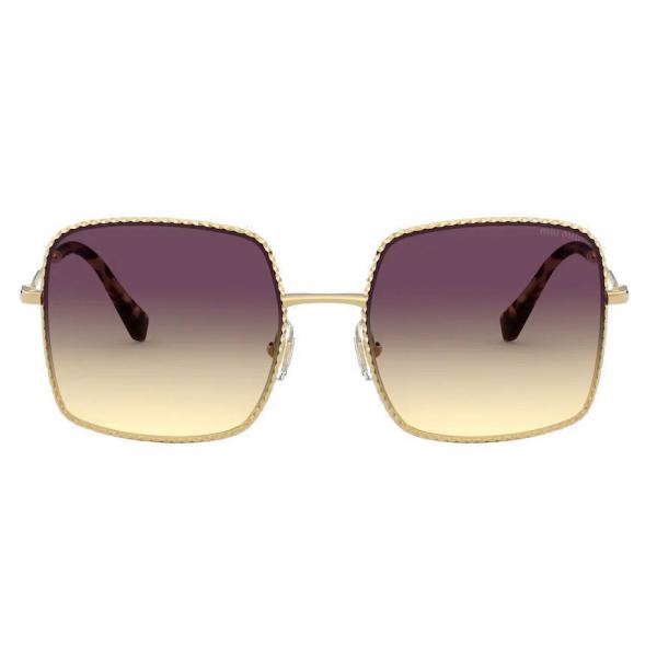 Miu Miu - Occhiali Miu Miu La Mondaine - Geometrici Oversized - Viola SF Sole - Occhiali da Sole - Miu Miu Eyewear