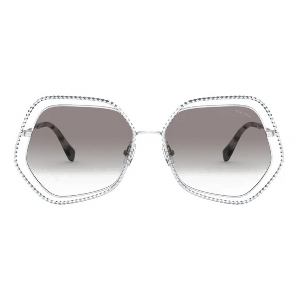 Miu Miu - Miu Miu La Mondaine Sunglasses - Oversized Geometric - Violet SF Sole - Sunglasses - Miu Miu Eyewear
