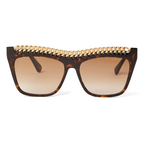 Stella McCartney - Havana Round Sunglasses - Havana - Sunglasses - Stella McCartney Eyewear