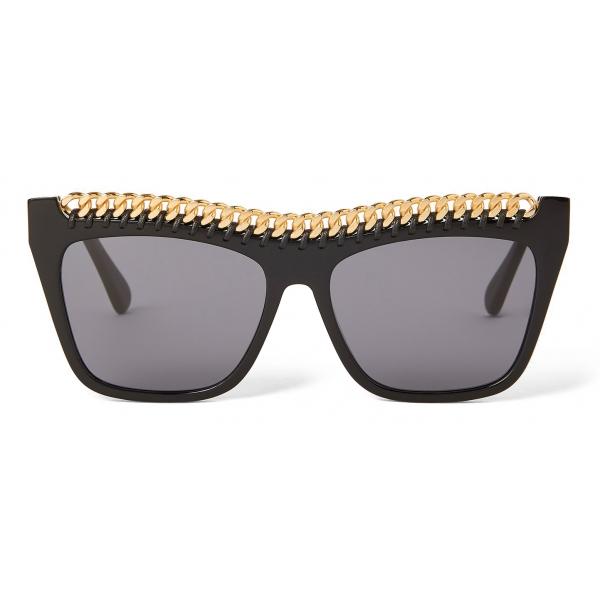 Stella McCartney - Shiny Black Square Sunglasses - Shiny Black - Sunglasses - Stella McCartney Eyewear